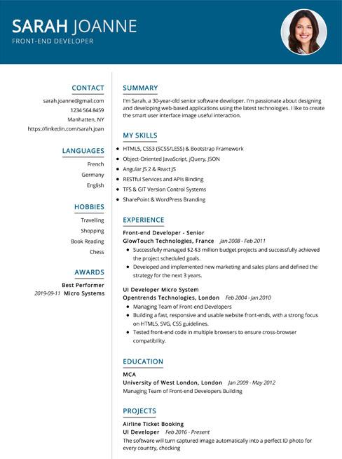 Resume Builder App Free Cv Maker Cv Templates 2020 Online Cv Builder Free Best Free Cv Maker In 2020